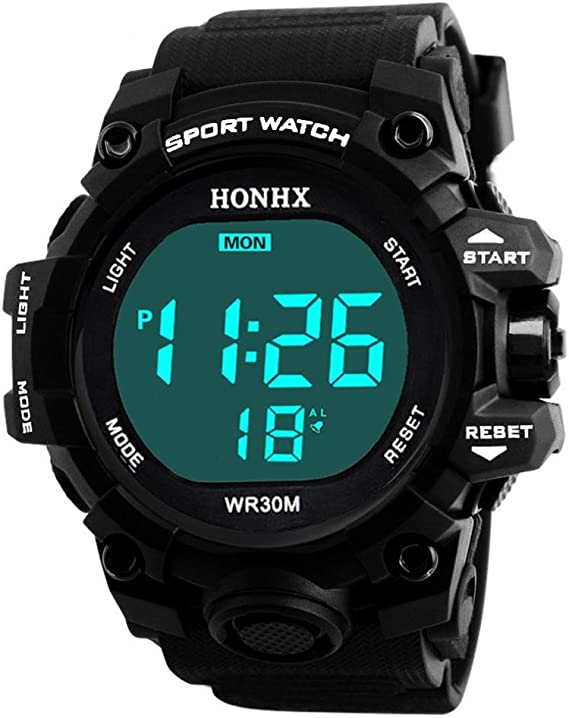 Relojes Hombre Deportivos,KanLin1986 Reloj led Inteligente Reloj Militar Relojes mecánicos de Hombre Relojes Sumergible Reloj Digitales Waterproof Sport Watch (BK): Amazon.es: Relojes