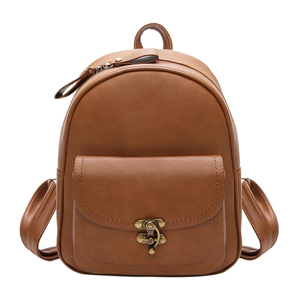 Gowind7 Women Bag Backpack Shoulder Bag School Bookbag PU Leather Vintage Simple Casual