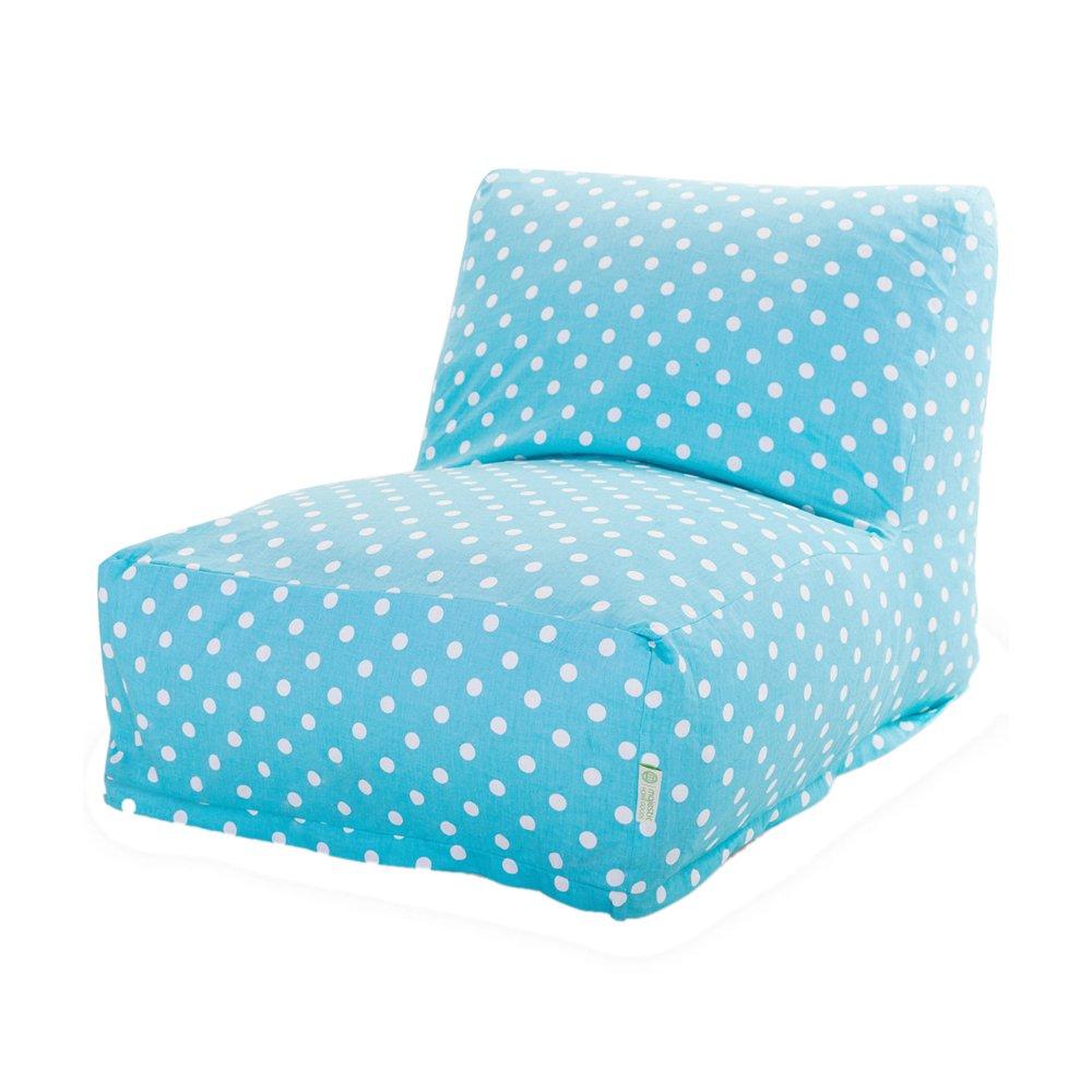 Amazon.com: Majestic Home Goods Aquamarine Small Polka Dot Bean Bag Chair  Lounger: Kitchen U0026 Dining