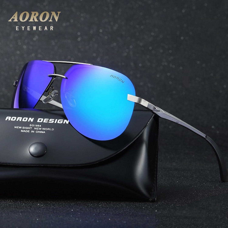 Sonnenbrille Herren Polarisiert Aviator Metall 100% UV 400 Fitness Pilotenbrille 9awwxnjF