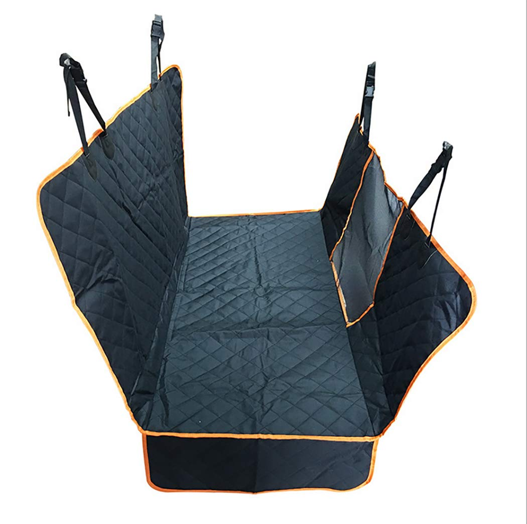 GAIBO Pet Seat Covers with Mesh Visual Window, Nonslip Easy to Clean Against Moisture Dirt and Hair Washable, for Cars Trucks SUV,Black