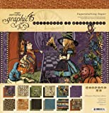 Graphic 45 12-Inch by 12-Inch Papercrafting Paper Pad, Hallowe'en in Wonderland
