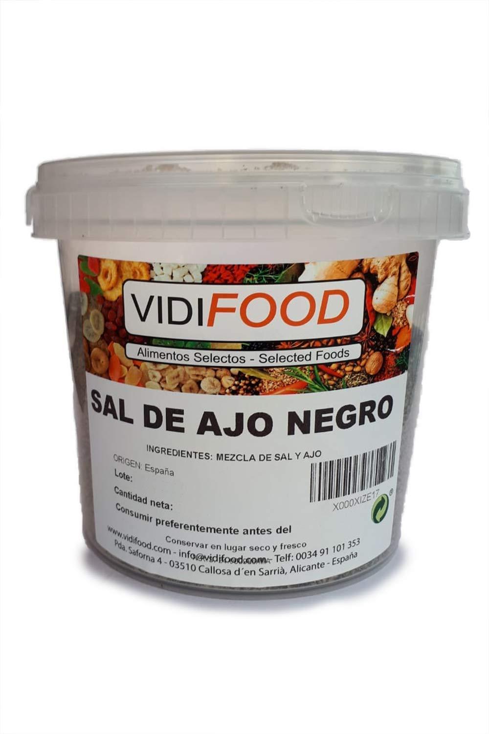 Sal Negra del Himalaya - 1 kg - Rica en nutrientes y minerales - 100% natural y sin toxinas - Alternativa baja en sodio perfecta para la sal de mesa común ...