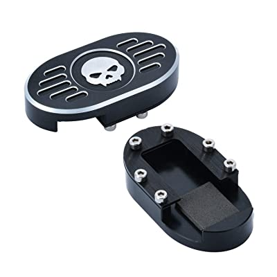 Skull Brake Pedal Pad Cover Reservoir Cap For Harley Sportster XL 883 1200 Roadster Dyna Nightster: Automotive