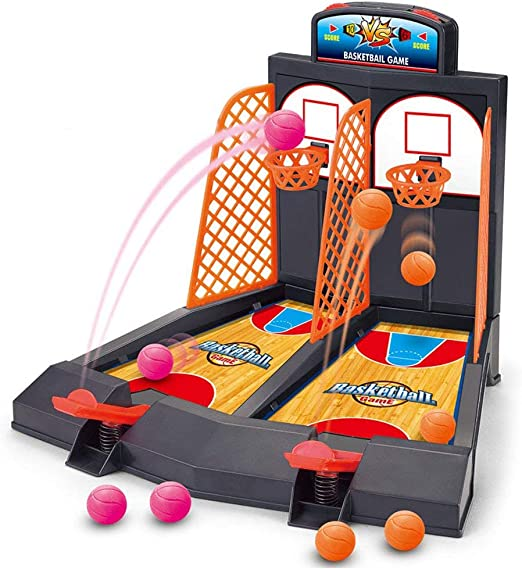 ZXYSHOP Table Top Mini Basketball Basket Throwing Game, Baloncesto de Escritorio Mini Finger Basket Toy Sports niños Juegos de Mesa Doble Play interacción Juguetes: Amazon.es: Hogar