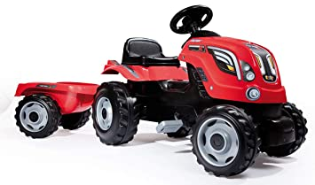 Amazon.com: Smoby Tractor Farmer XL rojo: Toys & Games