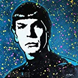 MR.BABES - ''Star Trek: Spock (Leonard Nimoy)'' - Original Pop Art Painting - TV Show Movie Portrait
