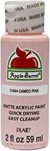 Apple Barrel Acrylic Paint in Assorted Colors (2 oz), 21464, Cameo Pink