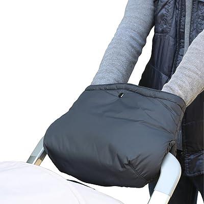 Imperméable et Coupe-vent Poussette Gants Hiver - Antigel Gants Protège Mains Chauds Noir