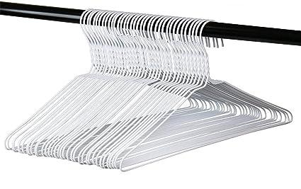 Amazon Com Long Lasting Vinyl Coated Wire Metal Hangers White