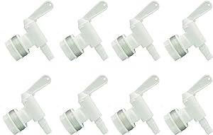 Plastic Bottling Bucket Spigot Valve - LUCKEG Brand Replacement Tap for Homebrew Fermenter Bucket (PACK of 8)