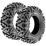 Pair of 2 SunF A033 Power.I AT 30x10R14 ATV UTV Off-Road Radial Tires, All-Terrain, 8 PR, Tubeless