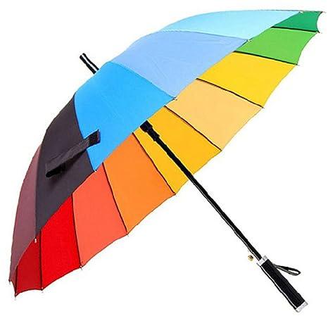 Paraguas del palillo,Los hombres Paraguas arco iris,Paraguas de sol y lluvia Mango