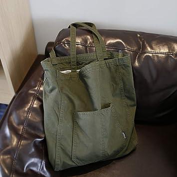 RWdong - Bolsa de la Compra de un Solo Hombro, diseño Original, Tela Vaquera Blanca de arroz, Bolsa de Agua, W: Amazon.es: Deportes y aire libre
