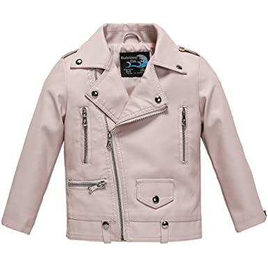 e2575b9b7216 Amazon.com  Budermmy Baby Girls Motorcycle Coat Toddler Winter ...