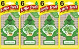 Automotive : Little Trees Twisted Basil Air Fresheners, (Pack of 24)
