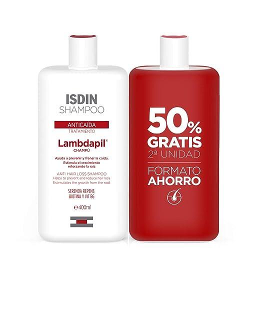 ISDIN Lambdapil Tratamiento Champú Anticaída - Set 2 x 400 ml ...