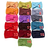 Toyobuy Women Knit Bowknot Headband Hairband 3pcs Color Random