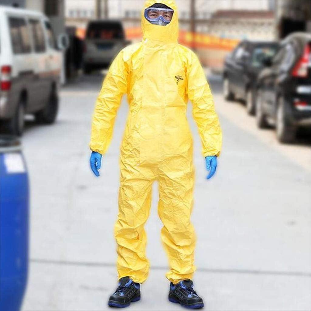 Gro/ße ZFZ Chemikalienschutzkleidung Allgemeine Schutzsicherheit Arbeit Siamese Chemikalienschutzkleidung Anti-S/äure und Alkali Chemical Pesticide Gem/älde Statische Elektrizit/ät Gro/ße,*