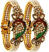 YouBella Jewellery Traditional Gold Plated Bracelet Bangle S