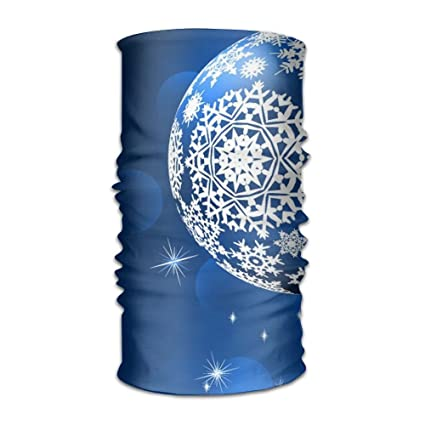 Snowflake Stars Blue Balls Headwrap Unisex Multifunction Headwear Polyester Quick Dry Soft Headband Neck Scarf
