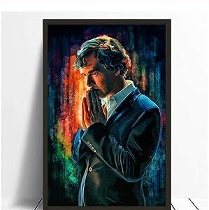 5STARS N&R Sherlock Holmes Art Poster Benedict Cumberbatch Posters Canvas Painting Print Wall Art Home Decor -50x70cm No Frame