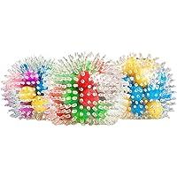 Yeglg 3 st/set stressbollar leksaker uppsättning, fidget sensoriska leksaker klämbollar för stresslindring och bättre…