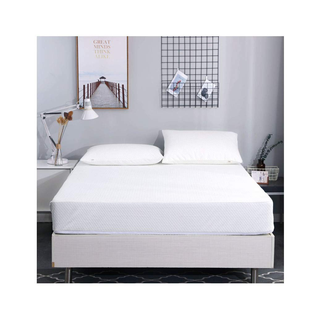 Silk Fitted Sheets/Microfibre Fitted Sheet/Microfiber Bed Sheets, Ultra Soft Silky Smooth and Wrinkle-Resistant,30CM Deep (Color : White, Size : 120x200cm+30cm) by QWERTY