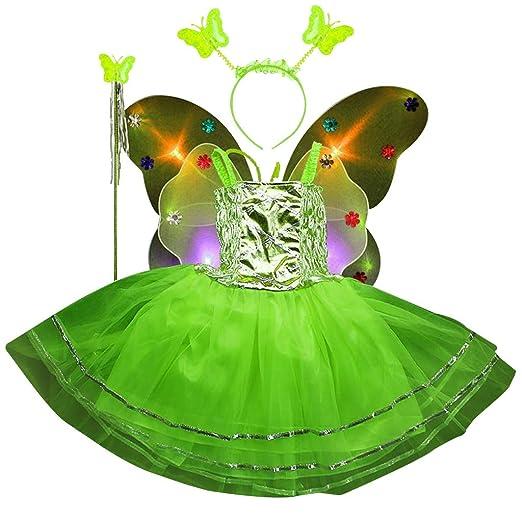 Vivianu 4pcs Edades 3-10 Princesa Niñas Traje De Hadas Conjunto ...