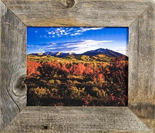 MyBarnwoodFrames - Homestead Reclaimed Barn Wood 8x10 Picture Frame (2 Inch Wide Frame)