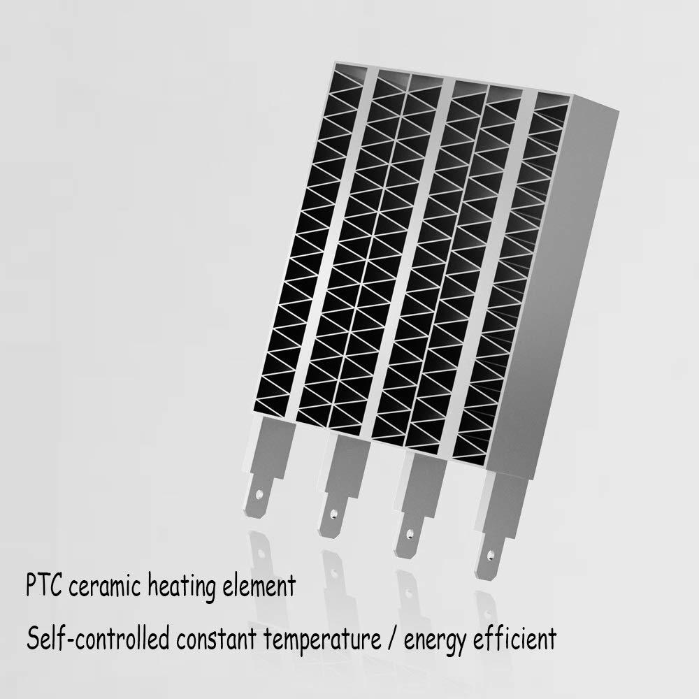 ... de cerámica del Calentador de Espacio del Calentador de Espacio de 600W PTC con el termóstato Ajustable para la Oficina-Blanco casero: Amazon.es: Hogar