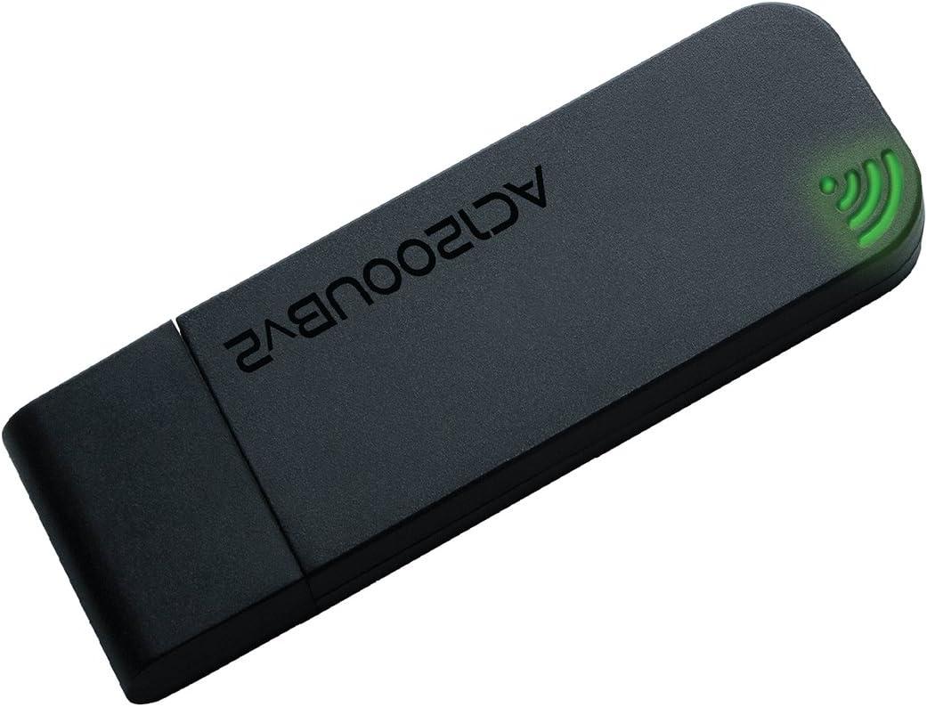 Rosewill USB Wireless WiFi Adapter, AC1200 Dual Band, 5GHz and 2.4GHz (867Mbps/300Mbps), Wireless Adapter/WiFi Dongle for PC, Mac, Desktop or Laptop