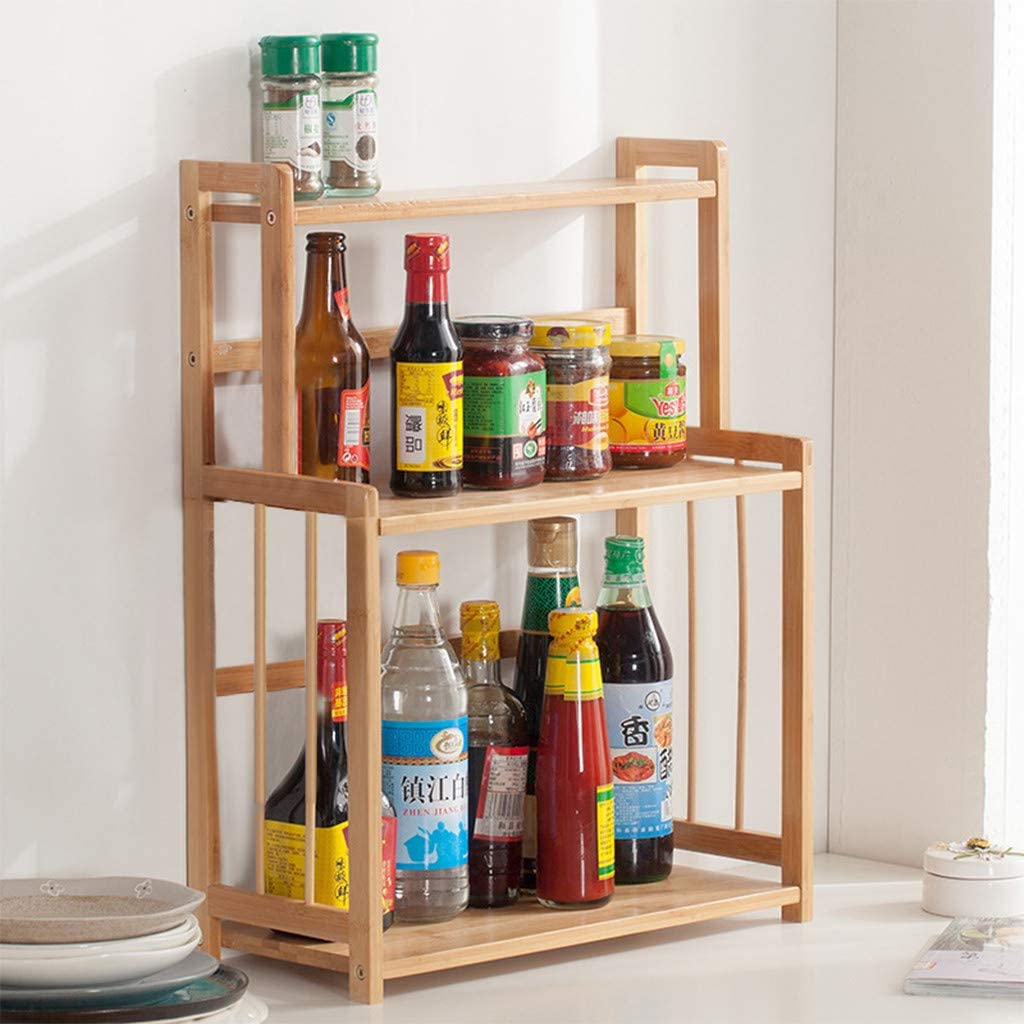 Free Amazon Promo Code 2020 for 3-Tier Wood Countertop Shelf For Kitchen