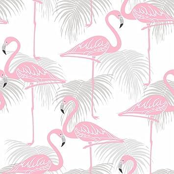 Fine Decor Enfants Flamingo Papier Peint Rose Gris Fd42215