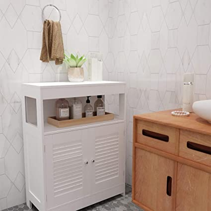 Amazon.com: Shan-s Bathroom Storage Cabinet with Double ...