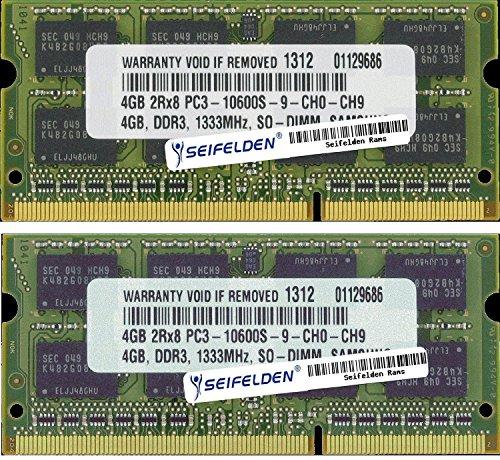 Seifelden 8GB (2X4GB) Memory RAM for Toshiba Satellite A500-ST6622 A500-ST6644 A500-ST6647 A505-S6004 A505-S6005 A505-S6007 A505-S6009 A505-S6012 A505-S6014