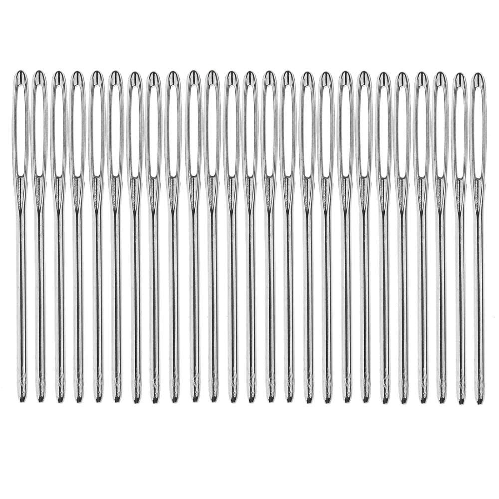 Sewing Needles - 50Pcs Silver Tone Steel Hand Long Sewing Needles 6cm Long agulhas pins Set by Sewing Needles
