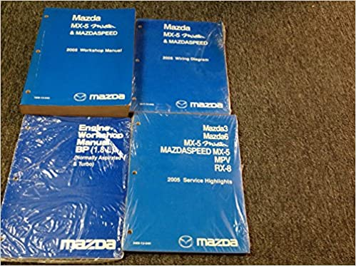 2005 Mazda Mx 5 Mx5 Miata Mazdaspeed Service Repair Shop Manual Set W Ewd Mazda Amazon Com Books