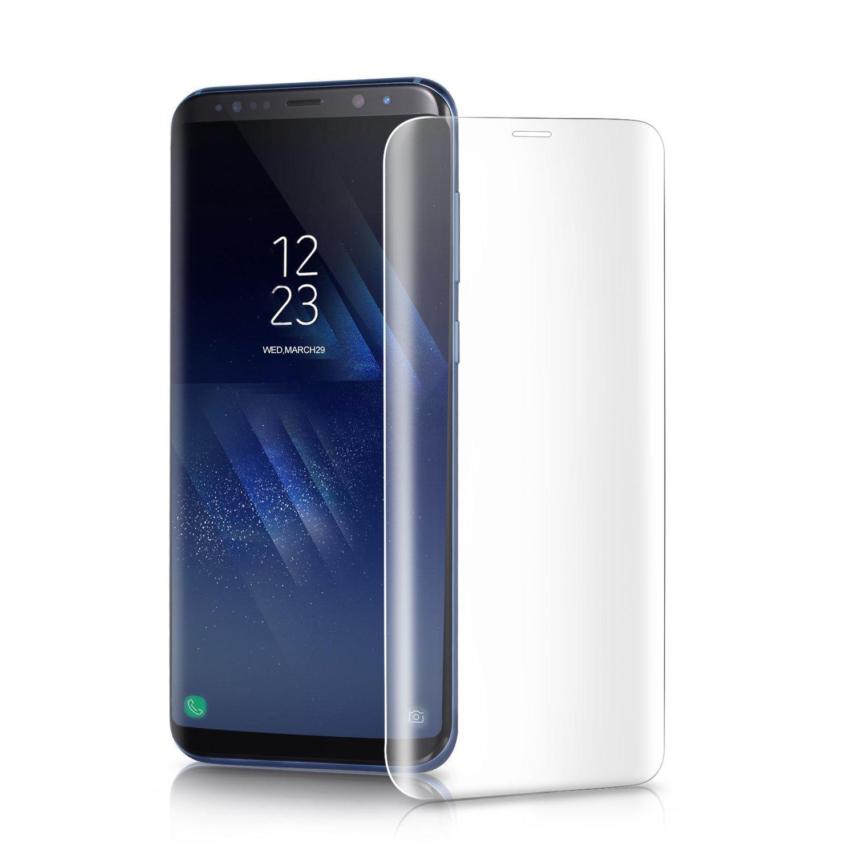 Selenechen - Protector de pantalla de cristal templado de repuesto para Samsung Galaxy S8, curvado, cobertura completa: Amazon.es: Electrónica