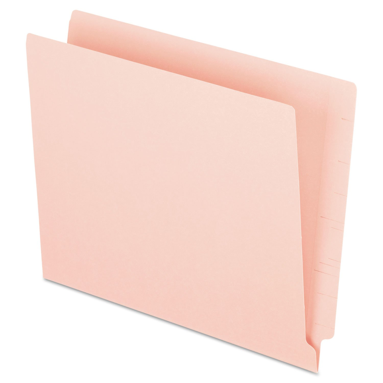 End Tab File Folder,3/4'' Exp.,11 pt.,Letter,100/BX,Pink, Sold as 1 Box 3/4'' Exp. Esselte DOBA-ESSH110DP