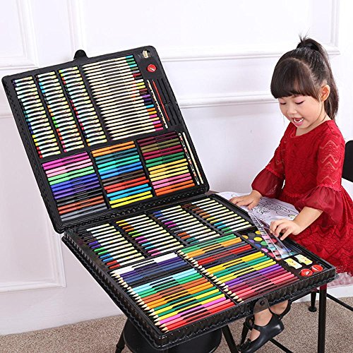 LLZJ Art Drawing Sets Children 288 Pcs Student School Coloured Design Brush Gifts Professional Supplies Stationery Creative Pencils Painting Kids Watercolor Pen, black by LLZJ (Image #4)