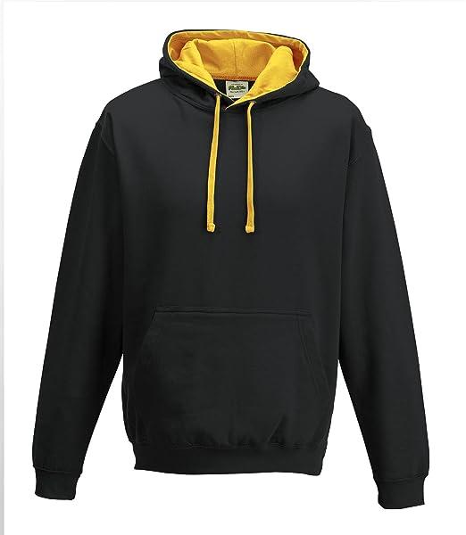 AWDs Just Hoods Varsity - Sudadera con capucha del hombre Jet Negro/Oro: Amazon.es: Ropa y accesorios