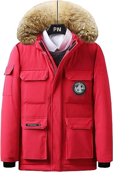 XUEYIER メンズ アウター 綿コート 中綿 フード付き ファー付き 暖かい 撥水 ダウンジャケット 防寒 アウトドア 冬服 防風 厚手 大きいサイズ M-4XL