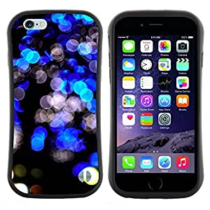 "Pulsar iFace Series Tpu silicona Carcasa Funda Case para Apple (4.7 inches!!!) iPhone 6 Plus / 6S Plus ( 5.5 ) , Negro Bright Lights vibrante Night City"""