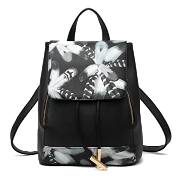 9a9e5a7566aba Swallowuk Damen Elegant Rucksack PU Leder Wanderrucksack Backpack  Schultertasche Daypack Schultertasche Reiserucksack Tasche Freizeitrucksack  (5