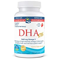 Nordic Naturals DHA Xtra, Strawberry - 90 Soft Gels - 1660 mg Omega-3 - High-Intensity...