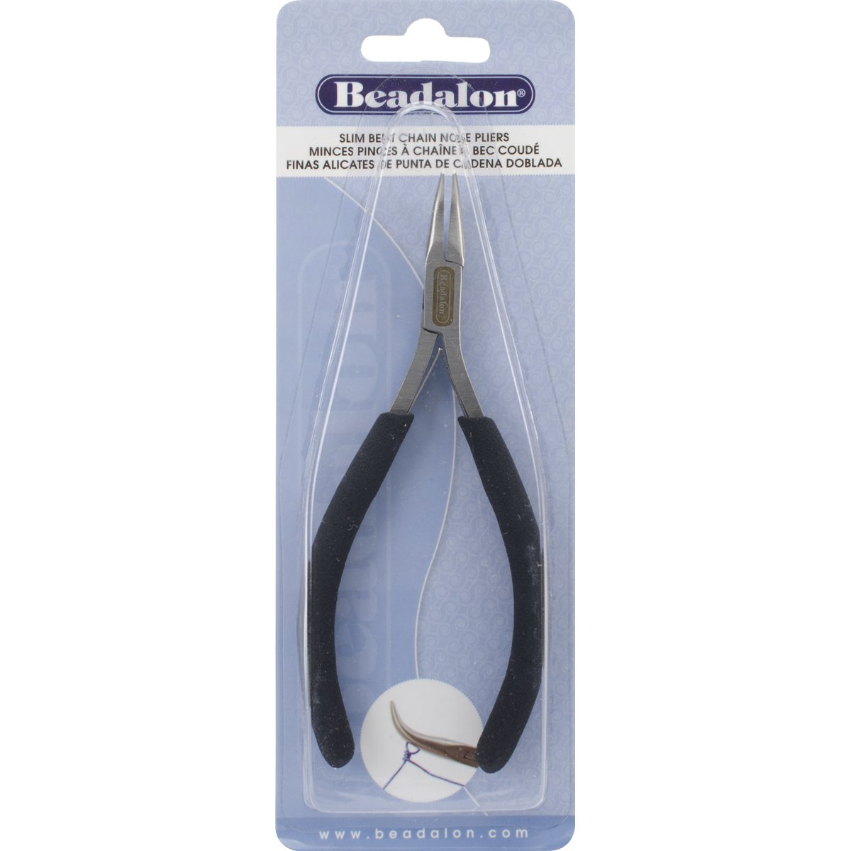 Amazon.com: Beadalon Slim Bent Chain Nose Pliers for Jewelry Making (3 Pack): Arts, Crafts & Sewing