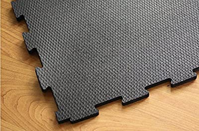 IncStores Extra Large 4'x4' Heavy Duty Rubber Gym Flooring Tiles