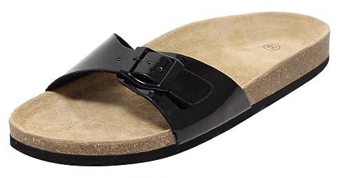 Damen Bio Clogs Pantolette Sandale Slipper Tieffußbett ROSEGOLD METALLIC GOLD Gr. 37 d9c5zDzjJK