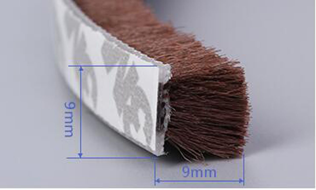 HAPTIME Window or Door of Brush Strip//Draught Excluder with 3M Adhesive Back 10M(32 Feet)